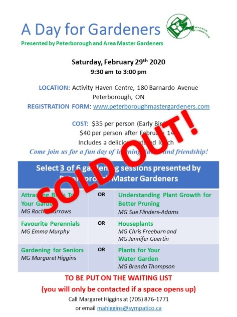 A Day for Gardeners Promosoldout